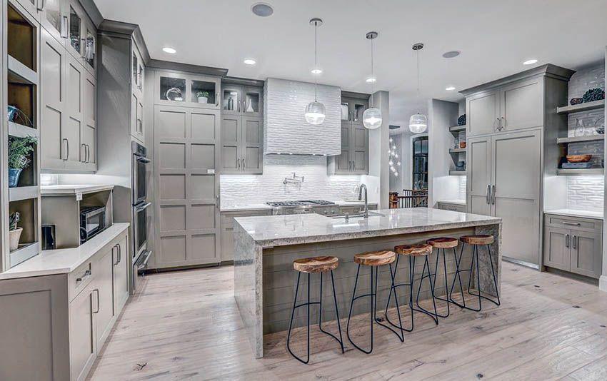 Gray Kitchen Cabinets Design Ideas Grey Kitchen Cabinets Grey Kitchens Light Gray Cabinets