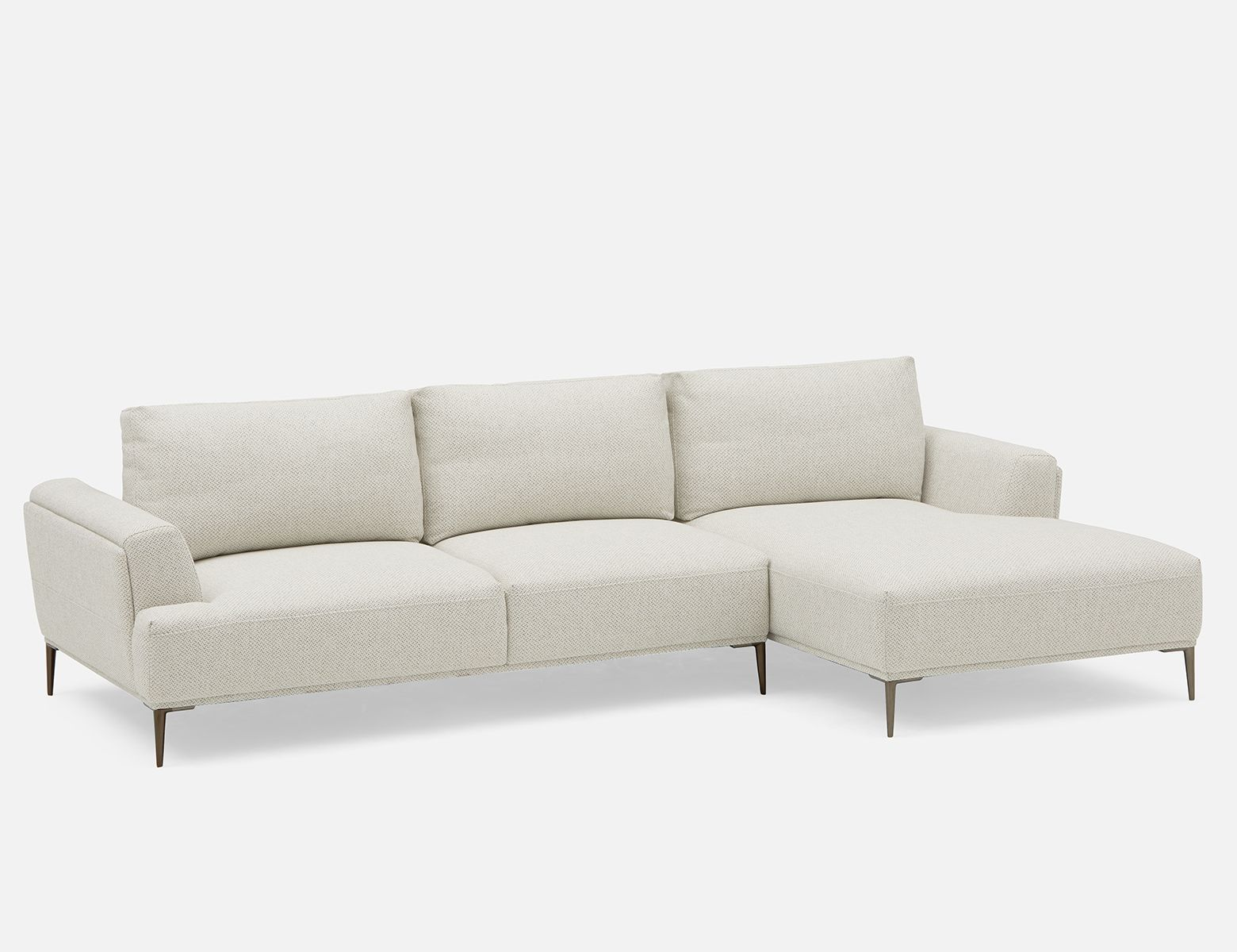 Beige Right Facing Sectional Sofa With Adjustable Backrests Structube Erin In 2020 Sectional Sofa Modern Sofa Sectional Modular Couch
