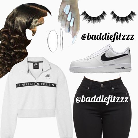 """@baddiefitzzz on Instagram: """"chill day fit🖤 would"""