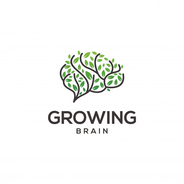 Growing Brain Logo Vector Premium Download Brain Logo Logo Design Health Logo Design Set