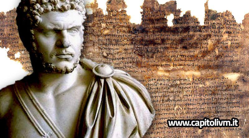 La Constitutio Antoniniana era un edicte pel qual, en l'any 212 dC, l'emperador Caracalla , el successor de Settimi Sever, va concedir la ciutadania romana a tots els homes que vivien en l'Imperi Romà. Edicte de Caracalla