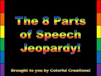 The  Parts Of Speech Jeopardy  Adverbs Prepositions And