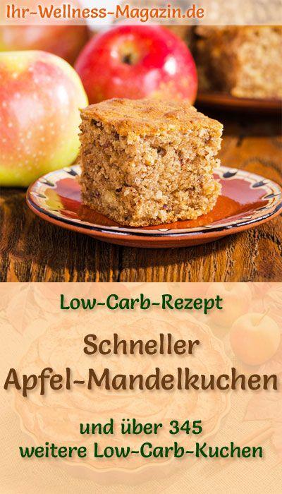 Schneller Saftiger Low Carb Apfel Mandelkuchen Rezept Ohne Zucker