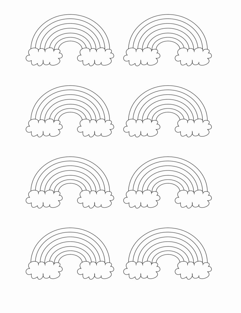 Rainbow Coloring Pages For Kids Printable Printable Coloring Pages Coloring Pages For Kids Rainbow Pattern