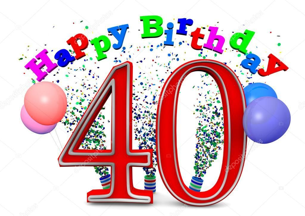 Animated 40th Birthday Wishes Celebrate Birthday Of Your Close Ones