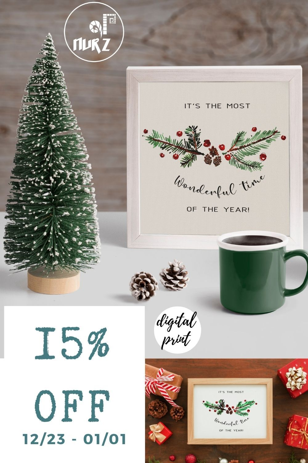 Digital Download It S The Most Wonderful Time Of The Etsy Christmas Wall Art Printable Christmas Decorations Christmas Gift Decorations