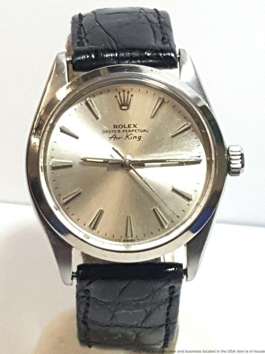 Rolex Air King Oyster Perpetual Mens Steel Vintage Watch