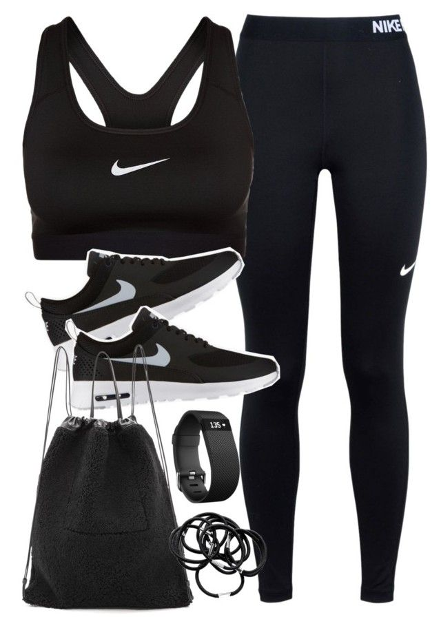 U0026quot;Outfit for the gymu0026quot; by ferned liked on Polyvore featuring NIKE Kara Hu0026M and Fitbit | My ...