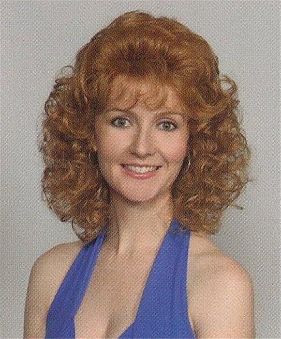 Strawberry Blonde Women S Wig Wavy Curly Short Mid-Length Full Wig Amber 4f8cd64ec