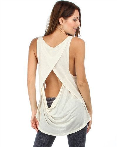 Ivory Plus Size Open Back Top Tops Plus Size Open Back Top
