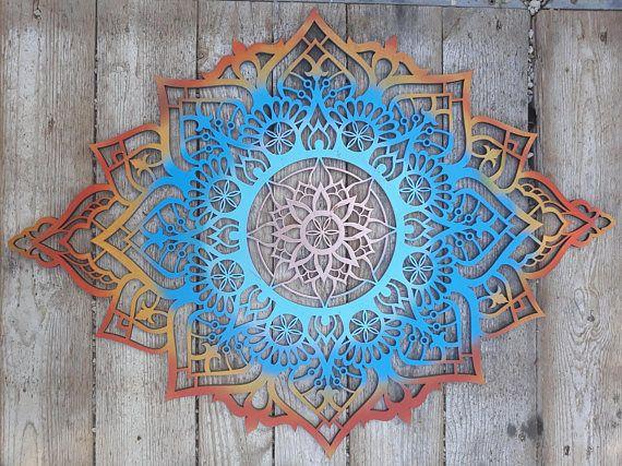bohemian wall decor mandala art wood wall art living room wall