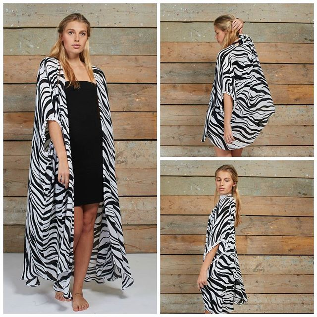 ec3162f6b941a Is the wild calling to you? Answer it with our Zebra Kimono! #mylook ...