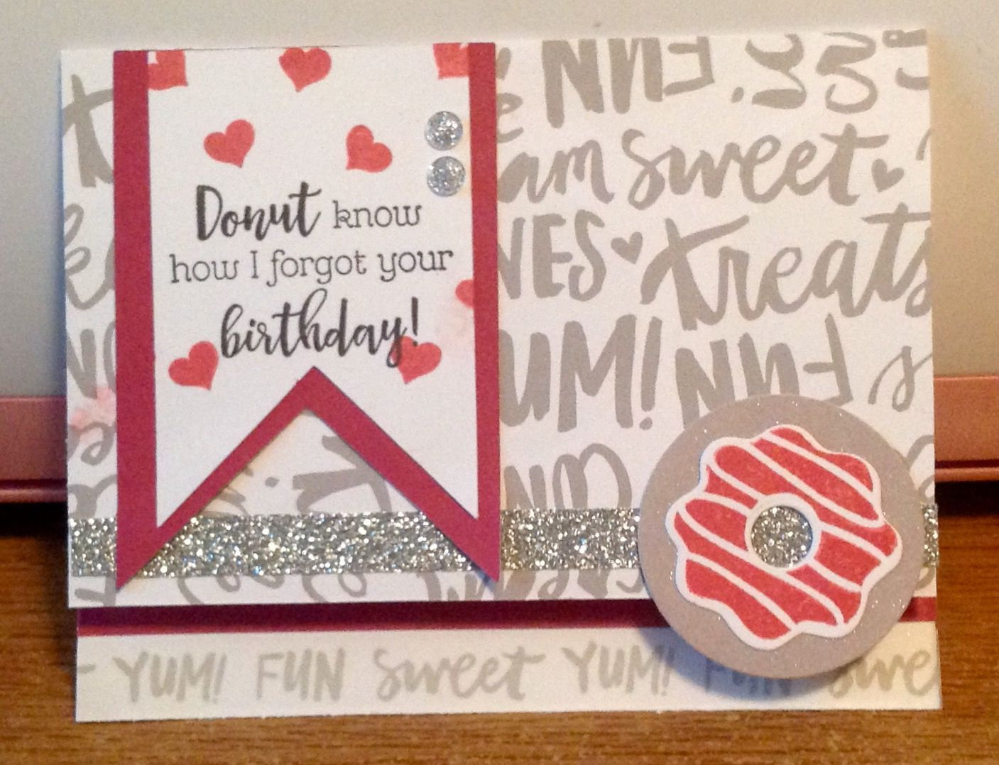 Love this sentiment found in CTMH seasonal expressions. Fast easy card to make using Sugar Rush paper.