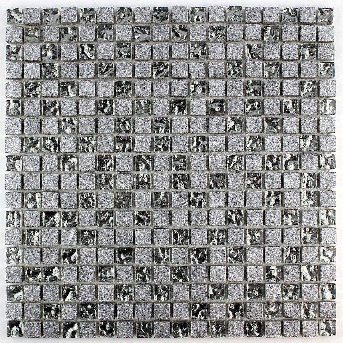 carrelage mosaïque salle de bain pierre et verre frost | salle de