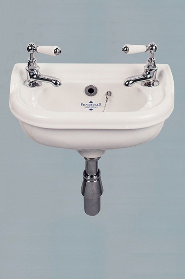 Silverdale Victorian Micro Basin 2 Tap Hole   Basin, Taps and Victorian