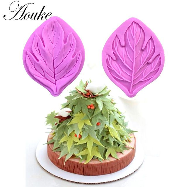 Maple Leaves Shape,3D Silicone Fondant Cake Mold. For Cake Decorating, Jelly, Chocolate, Soap Modeling X108