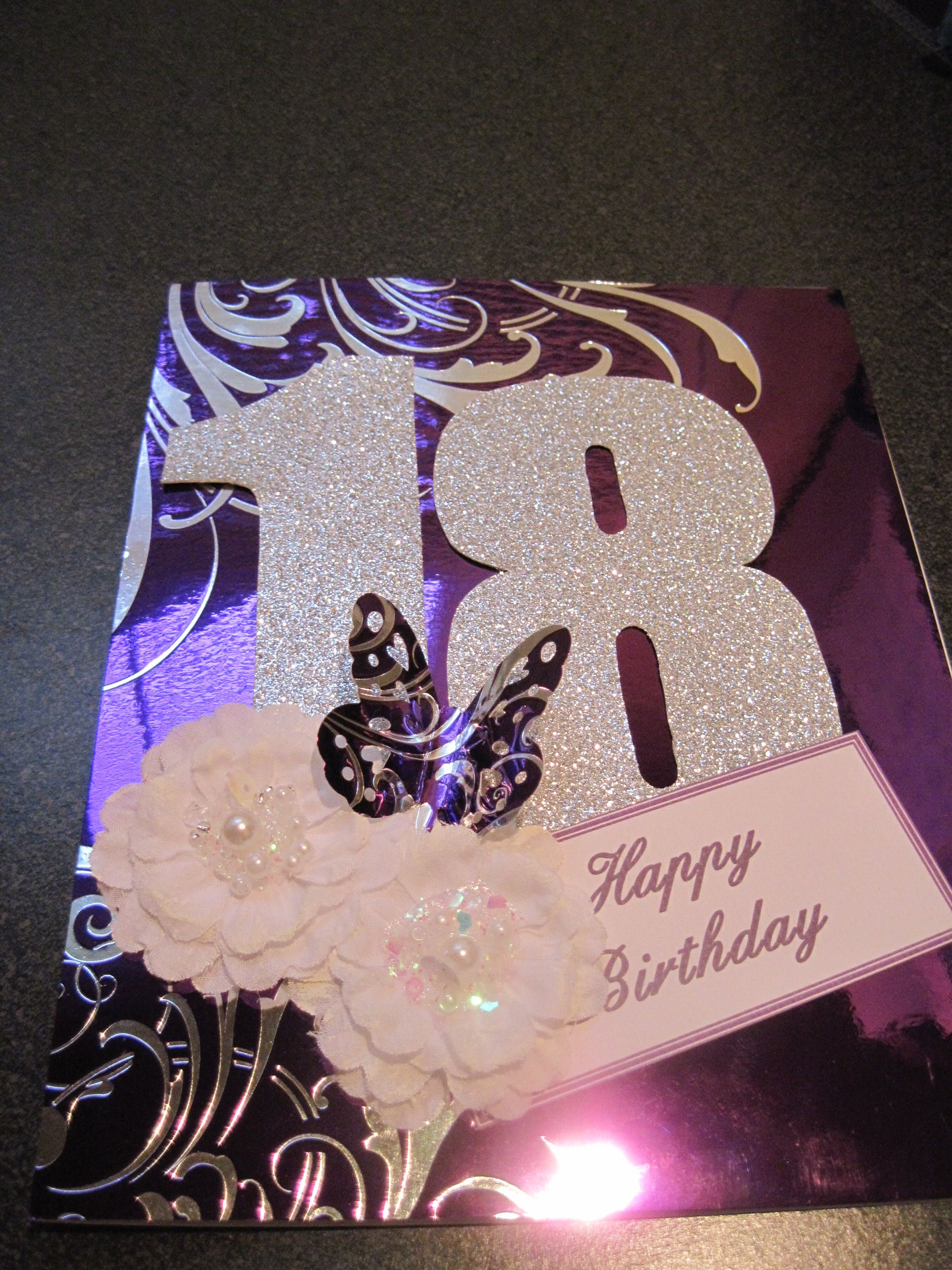 Birthday Card For My Granddaughters 18th