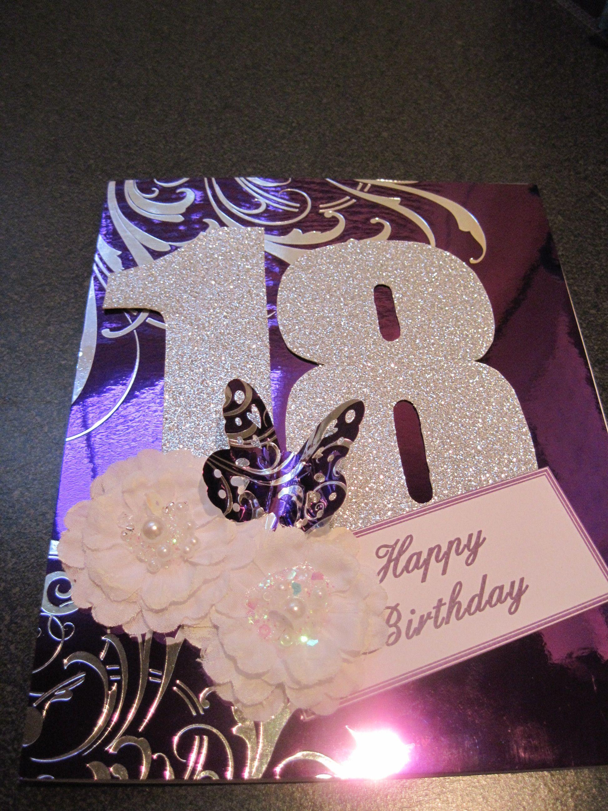 Handmade scrapbook ideas for birthday - Birthday Card For My Granddaughters 18th Birthday Scrapbook Com