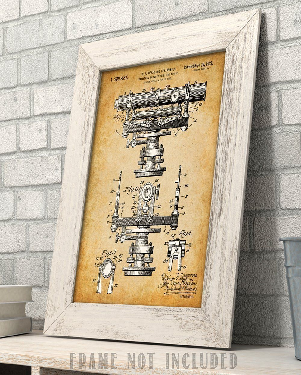 Great Gifts For Architects Convertible Builders Level 11x14 Unframed Patent Print Great Gift