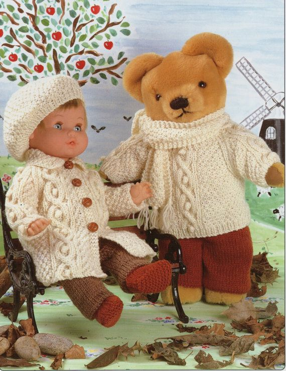 Dolls Knitting Pattern Teddy Knitting Pattern Dolls Clothes Dolls