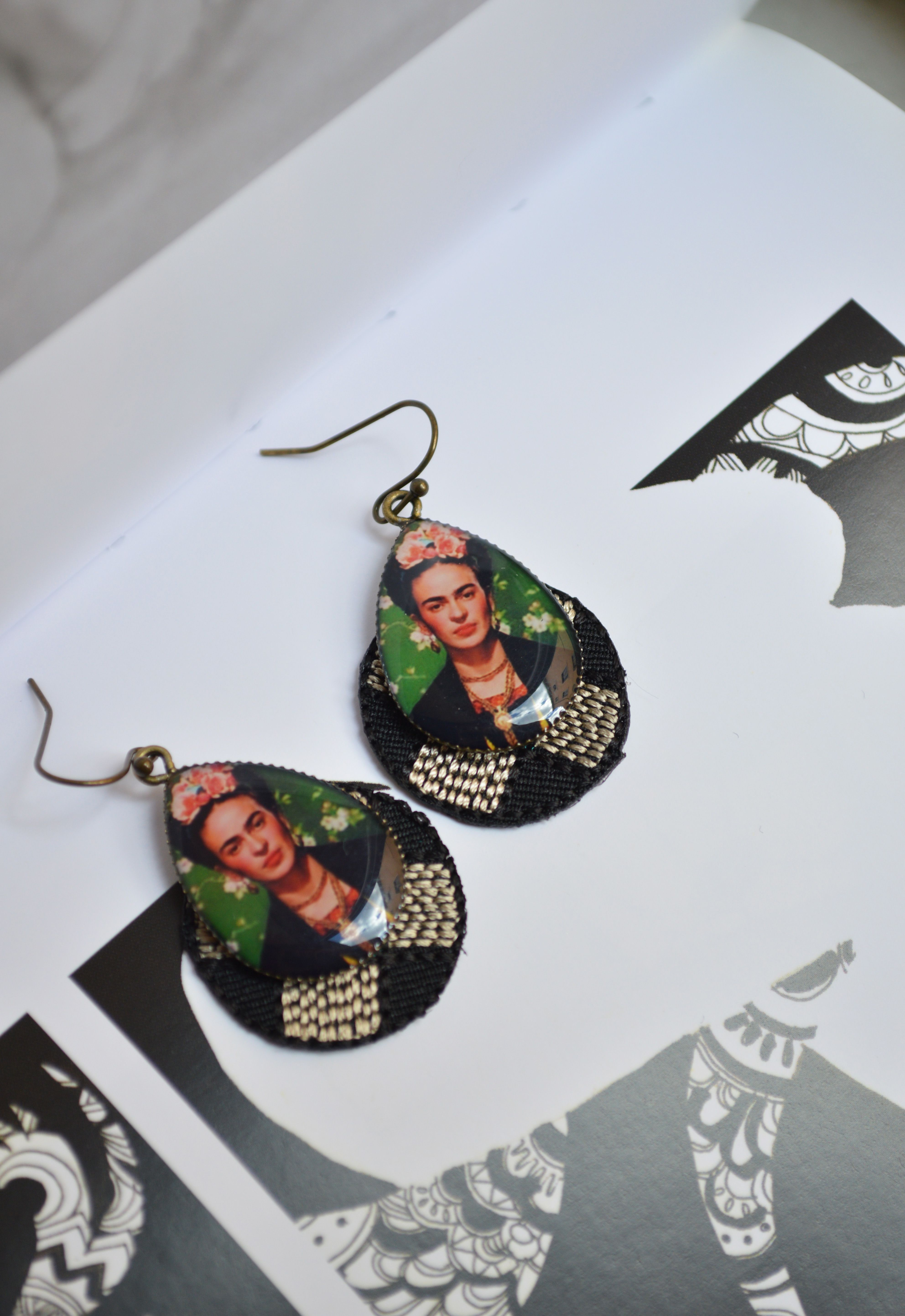 And Frida Earrings EmbroideryMes Kahlo Bijoux Tl1FKJc
