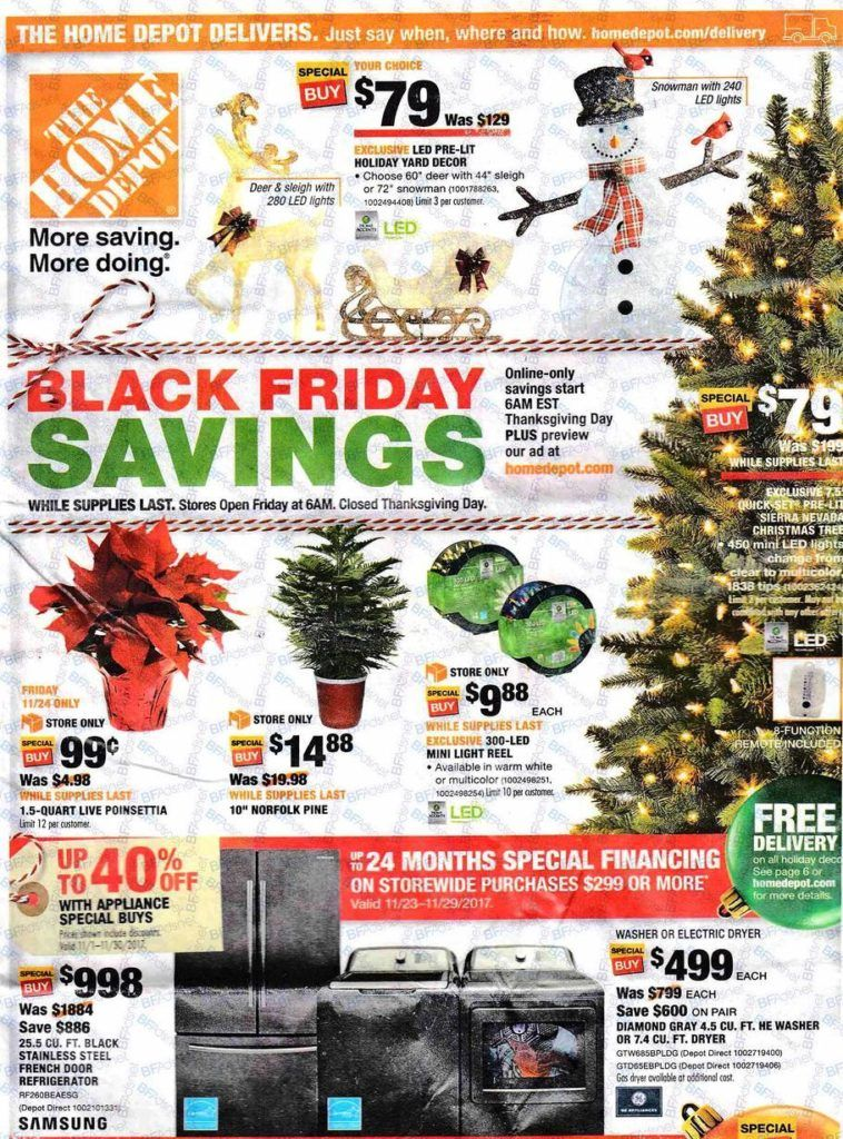 Home Depot Early Black Friday Deals For 2020 Black Friday Black Friday Ads Holiday Yard Decor