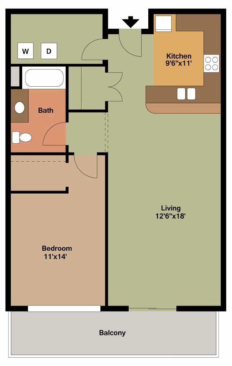 1 Bedroom Bat Apartment Floor