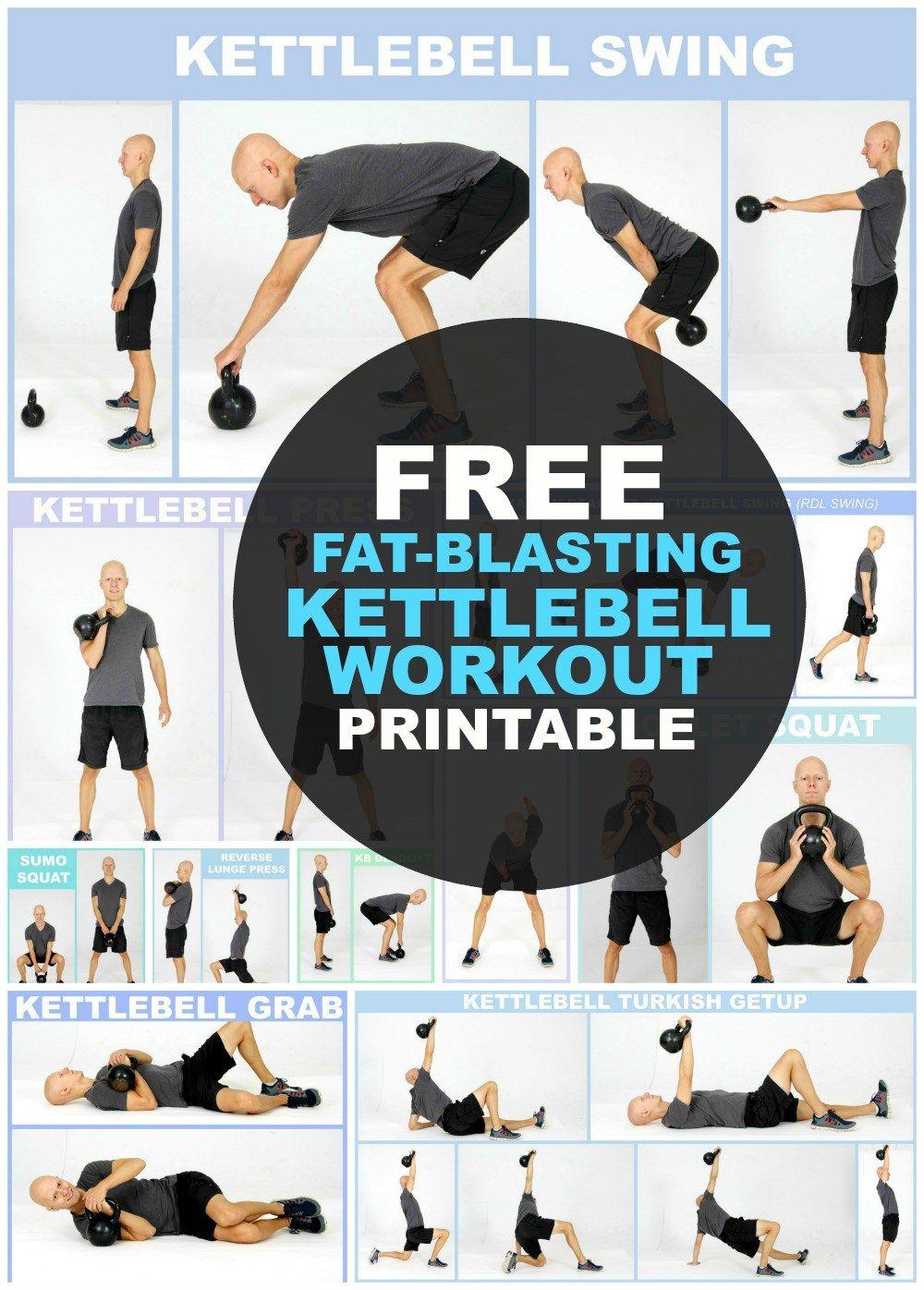 BEST Kettlebell Full Body Workout Routine for Beginners ...