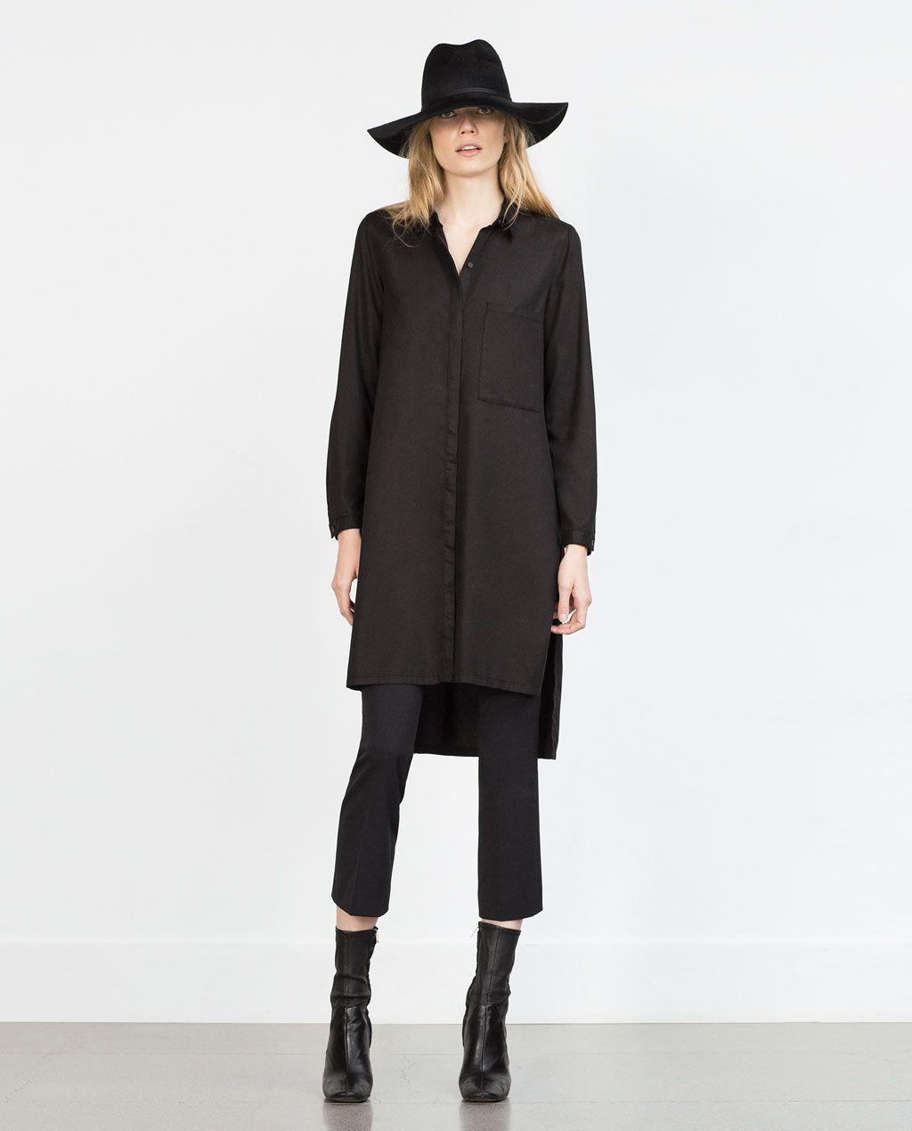 ZARA - WOMAN - LONG SHIRT - long black shirt, another staple I shockingly don't own!