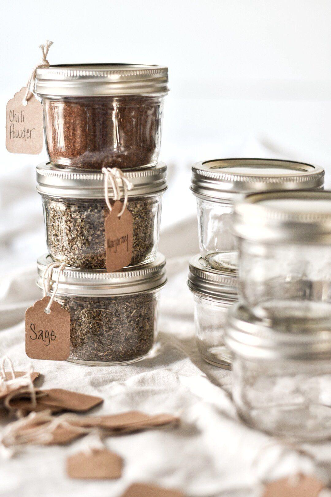 Mason Jar Spice and Herb Storage