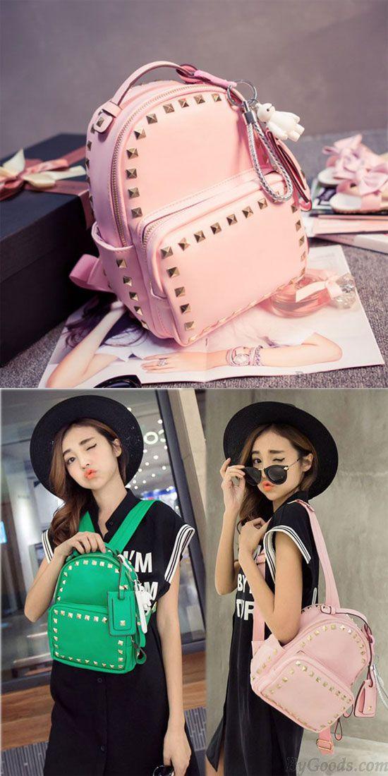 f9b97c46710e Cute Pink Baymax Girl Rucksack Rivet Glossy Mini Backpacks  cute  pink   rivet  rucksack  backpack  Bag