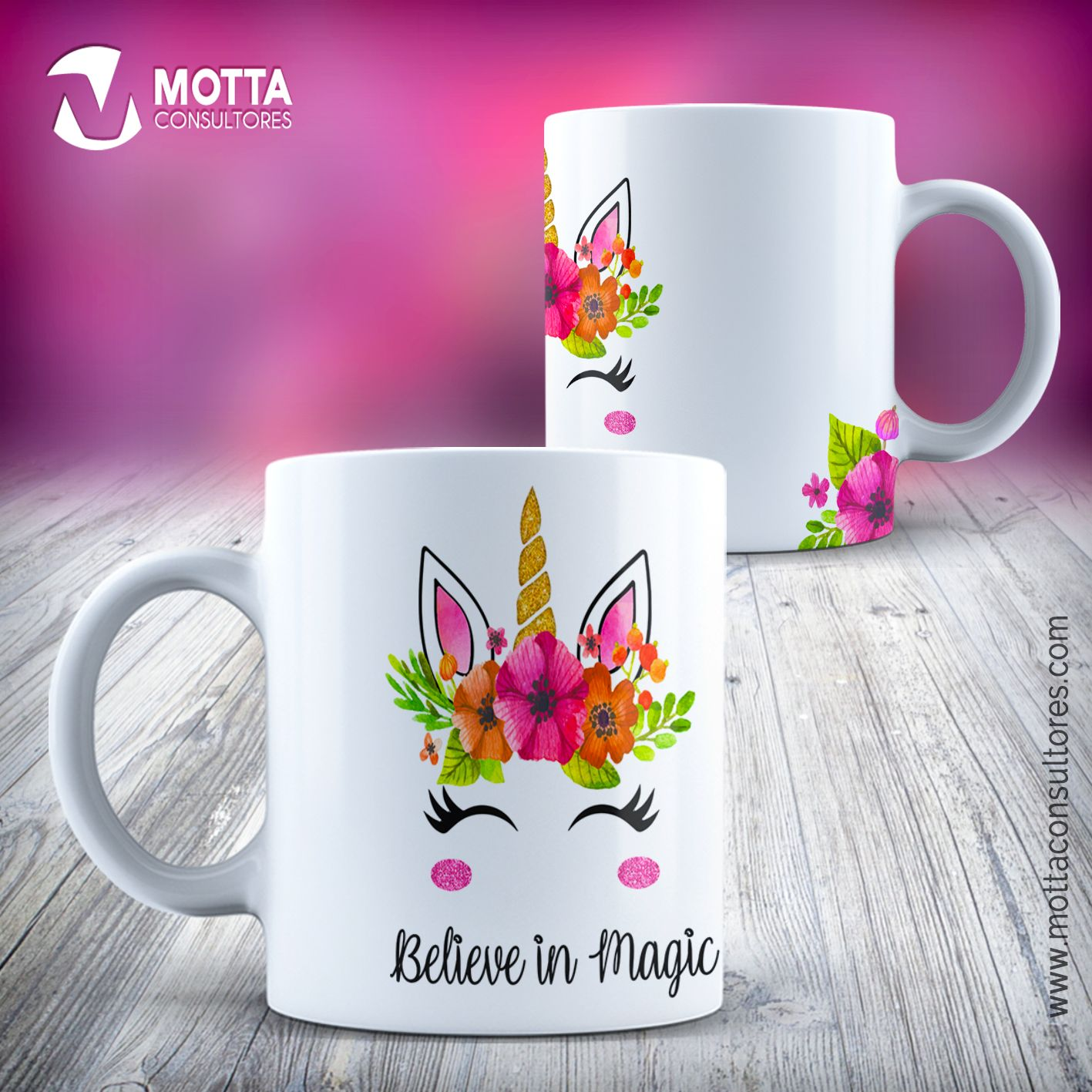 Design for sublimation of mugs unicorns | Coffee Mug Art