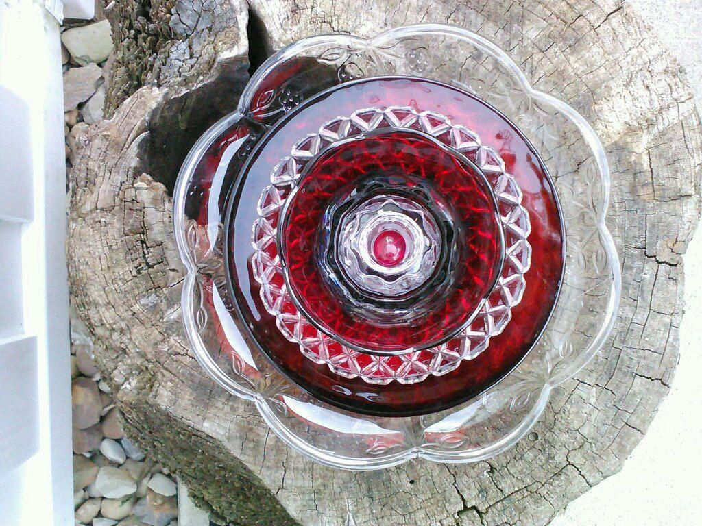 recycled glass flower sun catcher garden art garden decor - made