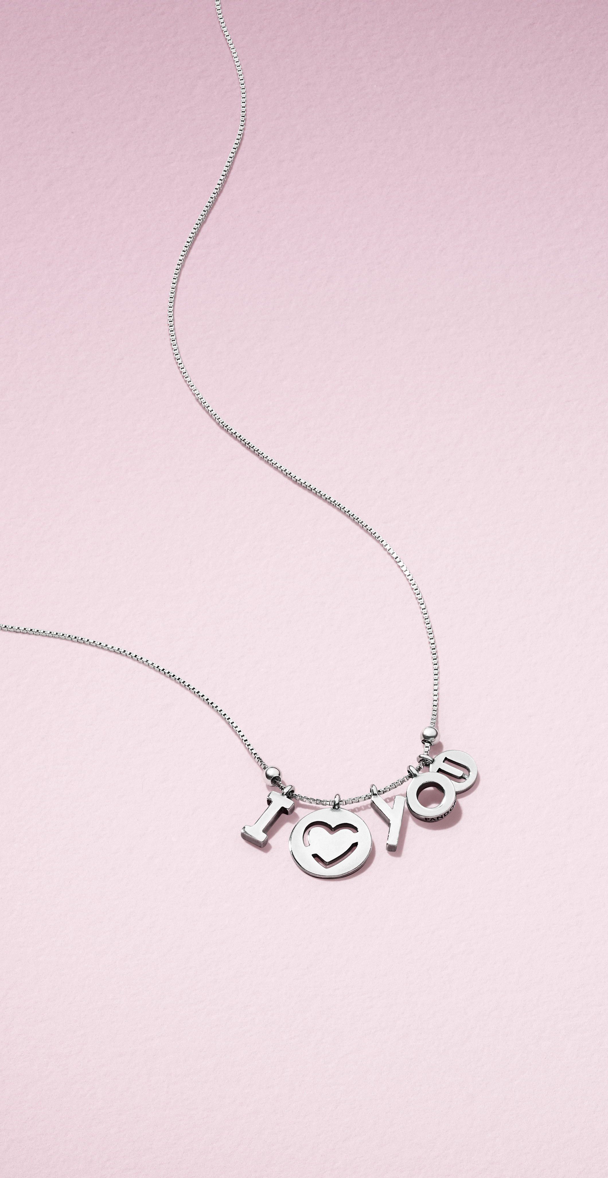 Spell out your love with PANDORA's sterling silver necklace from the brand new Valentine's collection.