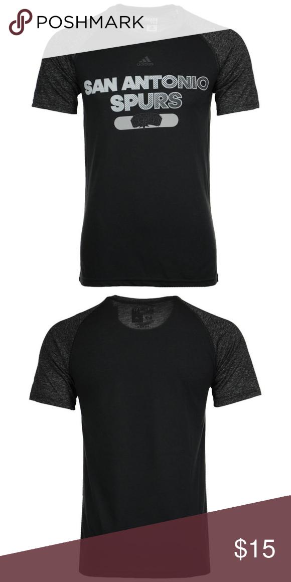adidas San Antonio Spurs NBA Shirt - M The San Antonio Spurs adidas NBA  Men s Reflective 76fa46d0e