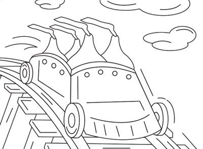 HERSHEYS KISSES Rollercoaster Coloring Page