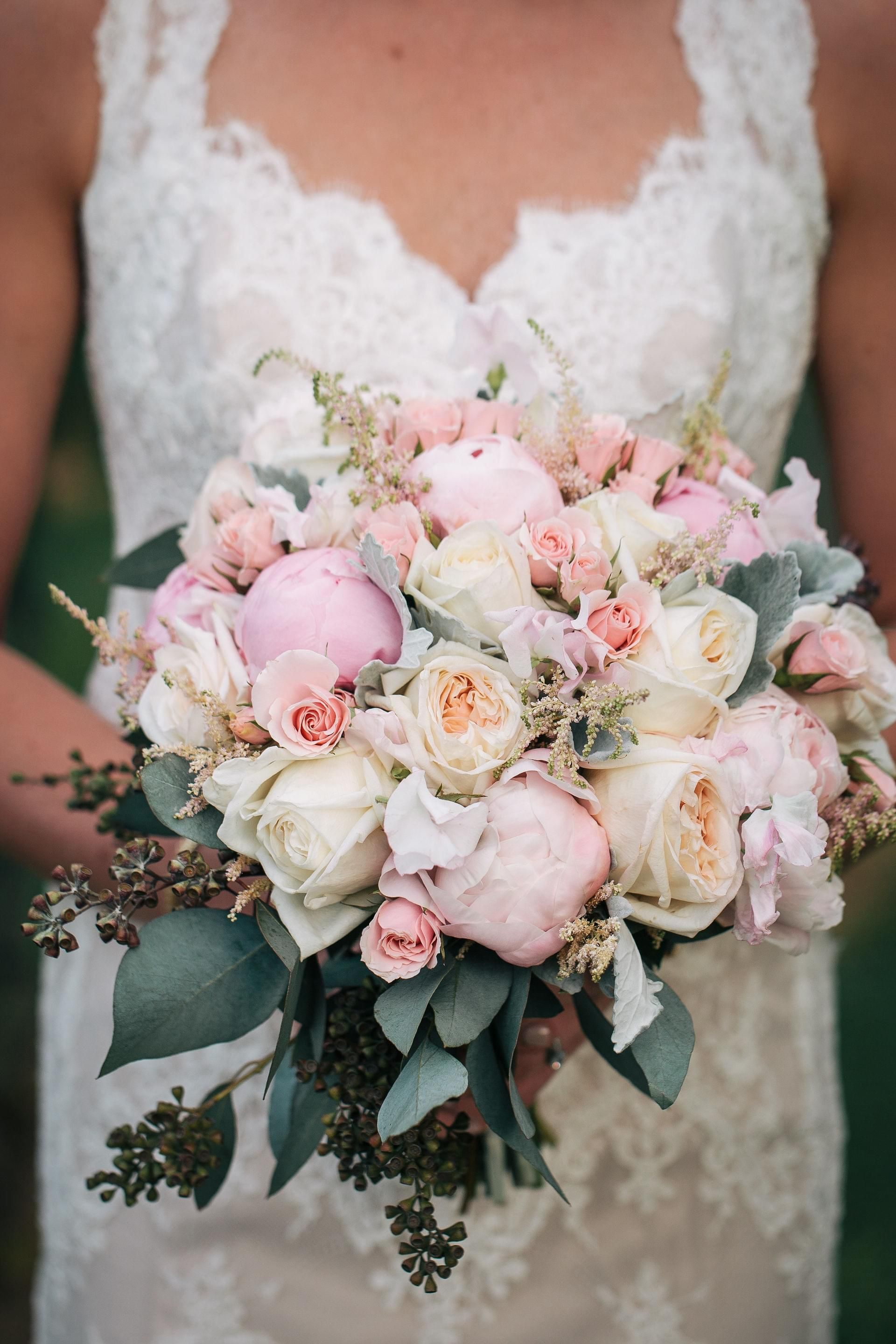 I love this bouquet! I'd probably have a pop of brighter color added into the mix, though.