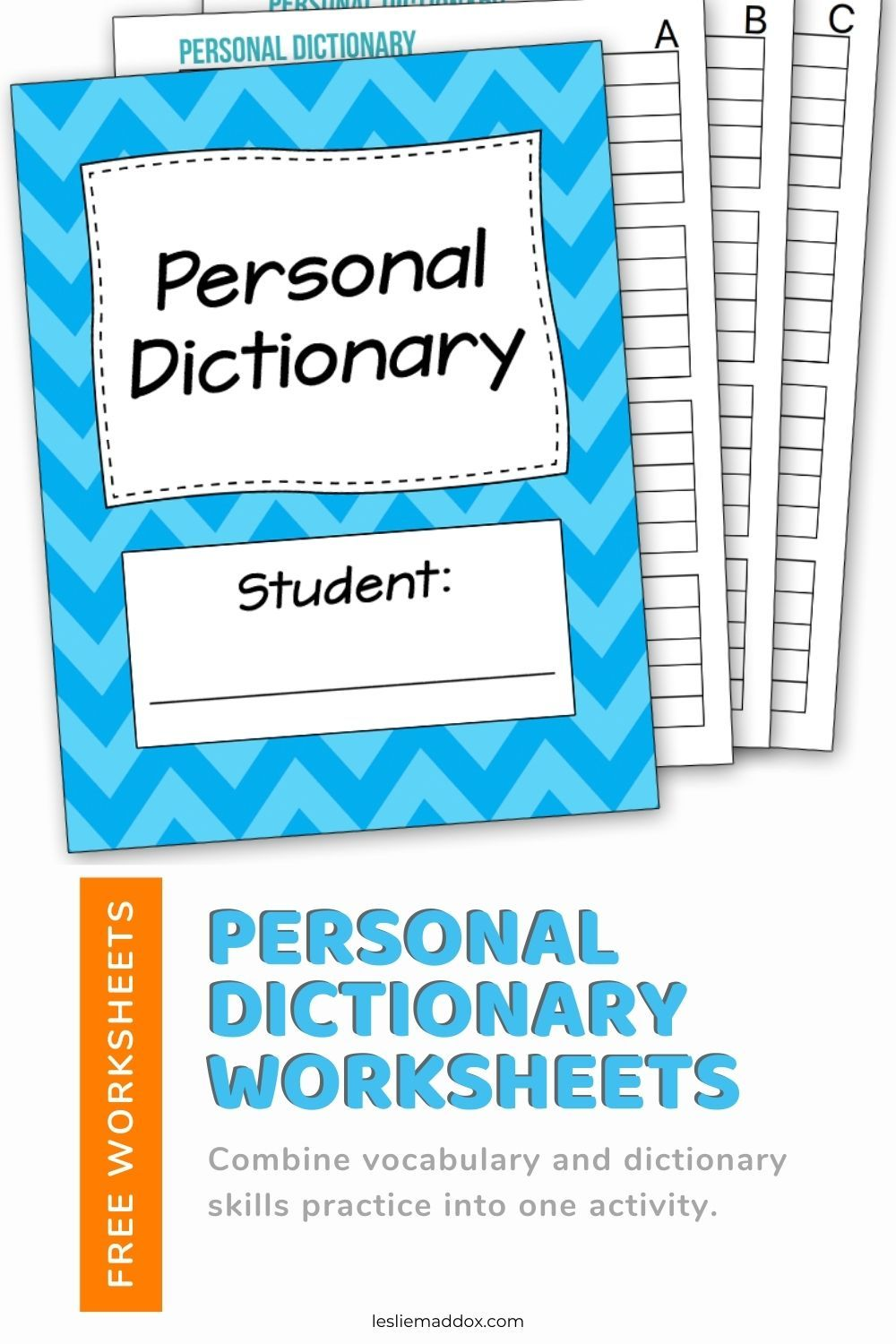 Free Vocabulary Worksheets Dictionary Skills Vocabulary Personal Dictionary [ 1500 x 1000 Pixel ]