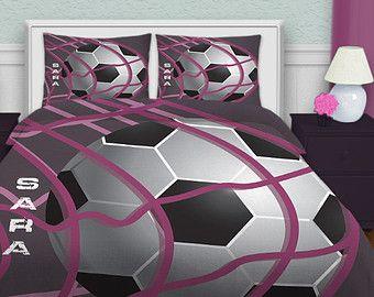 Bedding Soccer, Soccer Bedding For Girls, Teen Bedding, Purple ...