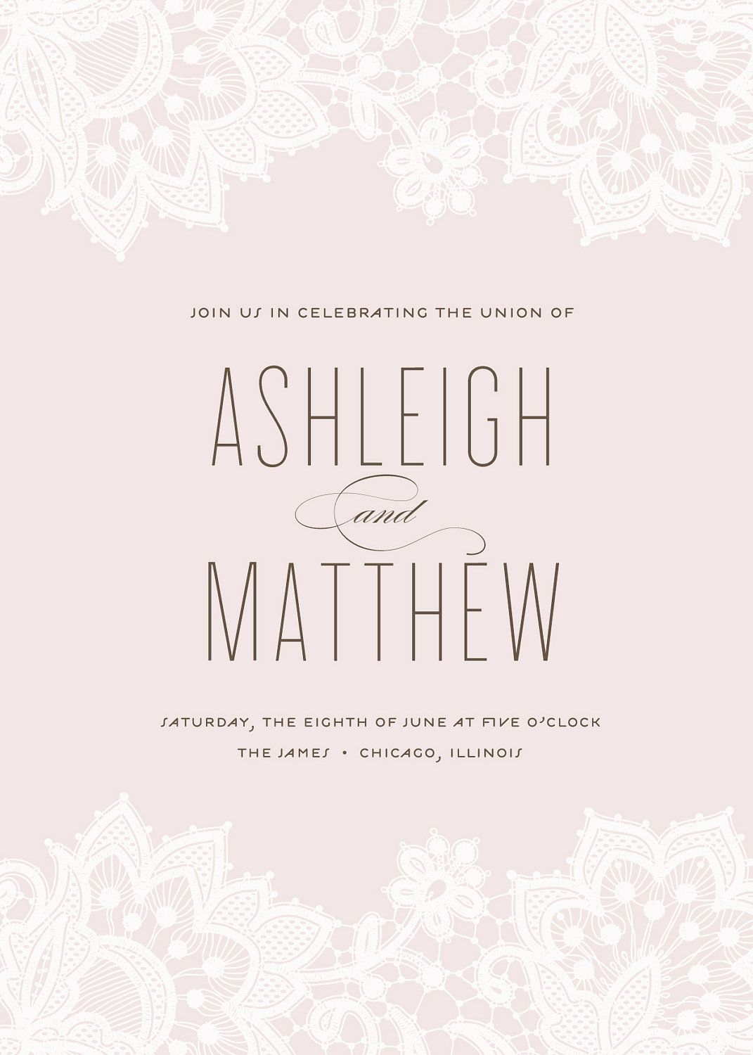 lace wedding invitation - \