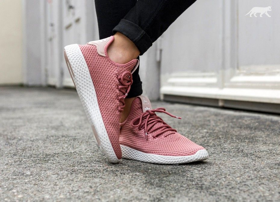 Pharrell Williams x Adidas tenis Hu ash Pink calzado parece