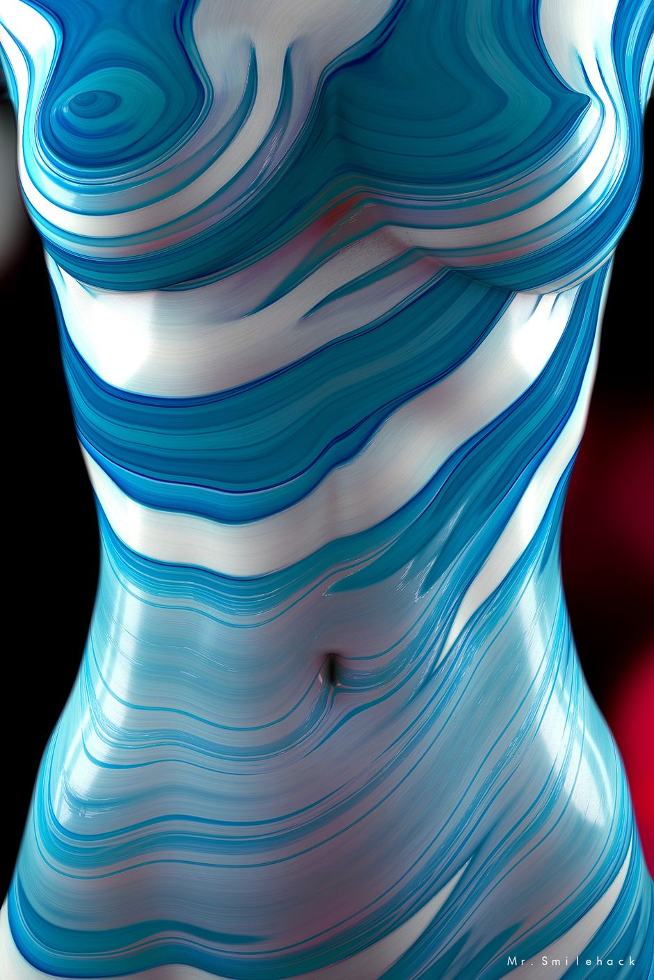 BluePop de la serie CandySkin by Daniel Varela | Abstract | 3D | CGSociety