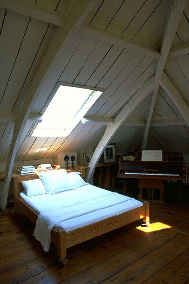 Une chambre mansardée sous les toits Décoration chambre
