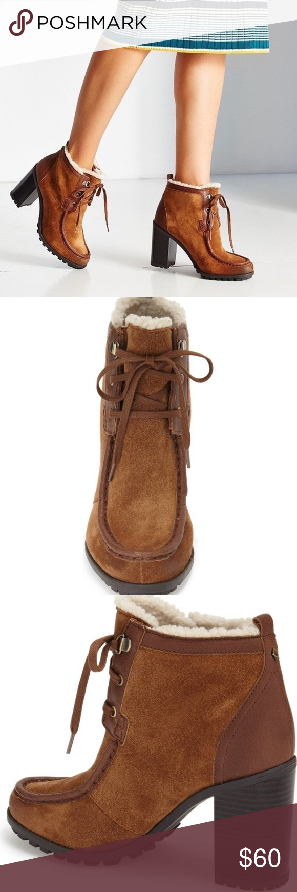 faa7ba82d016a9 Sam Edelman Madge Tan Suede Bootie 7.5 New Beautiful Tan suede with faux fur  lining bootie