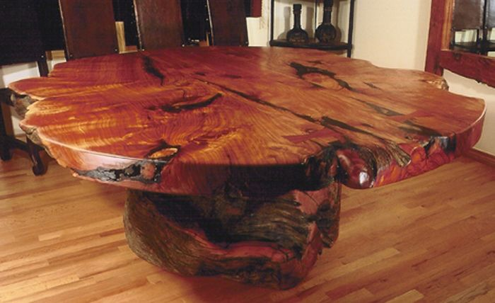 Furniture Made From Stumps Custom Handmade Rustic Western Stump Base Round Dining Room