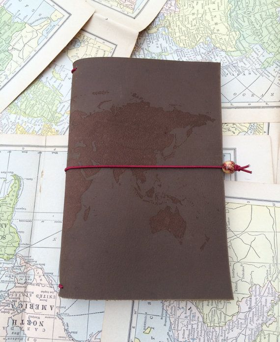 Laser engraved leather journal cover 5x8 world map design best laser engraved leather journal cover 5x8 world map design best 3rd anniversary gift idea gumiabroncs Choice Image
