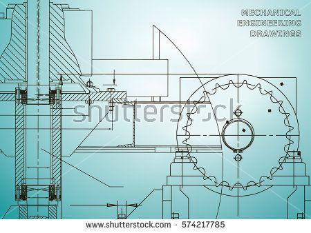 Engineering illustrations blueprints mechanical drawings blueprints mechanical drawings technical design banner light blue malvernweather Gallery