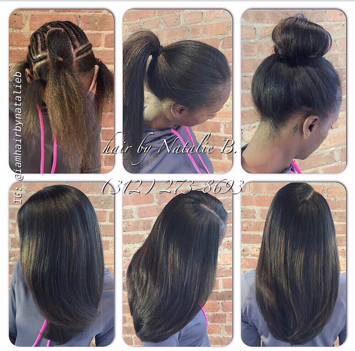 Perfect Pony Sew In Hair Weave By Natalie B 312 273 8693 Located