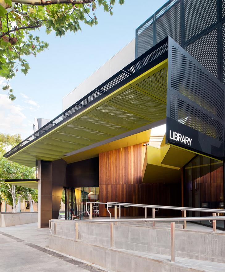 Bendigo library by hofstede design architecture for Building canopy design