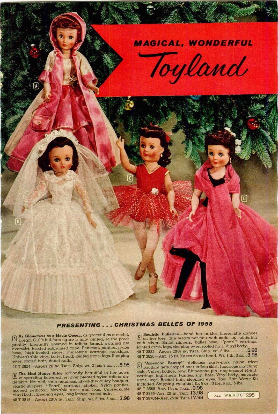 1958 Christmas Belles and these are not branded with maker